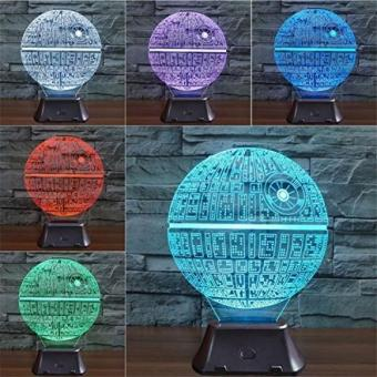 ETopLike 3D Night Lamp, Bulbing Light Heart Visual Illusion LED Lamp with 7 Color Changing for Kids Toy Christmas Gifts Night Light (Death Star)