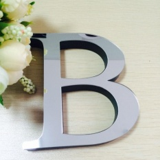 "EVA Wedding Wall Sticker ""Love"" Letters Home Decoration English Letters 3D Mirror Wall Stickers"