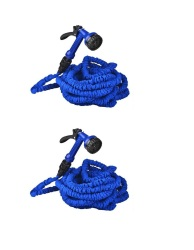 Expandable Garden Hose 25 ft (Blue) Set of 2