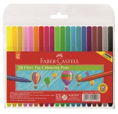 Faber-Castell Coloring Pens 20 Colors By Faber-Castell.