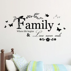 Family Letter Quote Removable Vinyl Decal Art Mural Home Decor Wall Stickers - intl