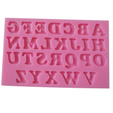 Fang Fang 3D English Letters Sugarcraft Molds Fondant Cake Decorating Mould Tools DIY (Pink)