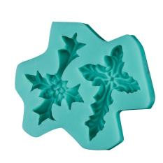 Fang Fang 5pcs/lot Durable Home Cake Baking Delicate 3D Cross Leaf Silicone Fondant Cake