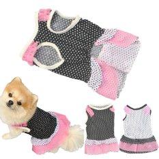 Fashion Puppy Dog Princess Dress Dog Dot Skirt Pet Dog Dress B Xs - Intl By Goldenfashionie.