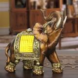 Feng Shui Elegant Elephant Trunk Statue Lucky Wealth Figurine Gift /& Home Decor