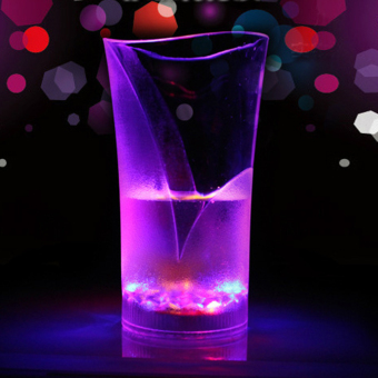 Flashing LED Light Up Cup Glass Colorful Vase Liquid induction Drink Mug Barware Party Wedding Clubs Christmas Halloween Holiday (Intl)