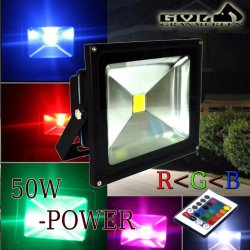 Flood Light Multi Color LED Outdoor Light 50w with Remote Control (RGB)