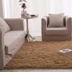 PHP 740. Fluffy Rugs Anti-Skid Shaggy Area Rug Dining Carpet Floor Mat Camel - intlPHP740. PHP 740