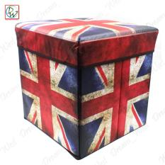 Foldable Ottoman Uk Flag Storage Box Storage Chair Box By Dreamwest Corporation.