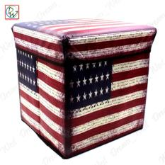 Foldable Ottoman Us Flag Storage Box Storage Chair Box By Dreamwest Corporation.