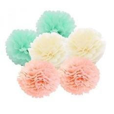 Freedom Vp Paper Pompom 12er 20cm/25cm Mixed DIY Paper Blumen PomPoms Zum  Aufhängen