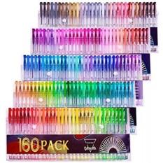 Gelmushta Gel Pens 160 Unique Colors No Duplicates Set For Adult Coloring Books Drawing