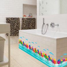 GETEK Colorful Fish Sea World Kids Room Bathroom Wall Sticker (Multicolor)