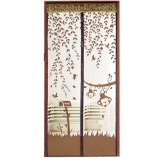 Gethome Magic Anti Mosquito Insect Cartoon Monkey Magnetic Soft Screen Mesh Portiere Door Curtain 90*210cm - Intl By Gethome12.