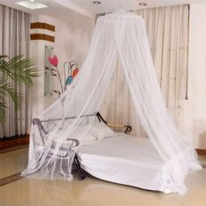 GMY Mosquito Net Bed Canopy King/Queen Size (White) ...