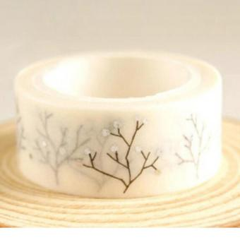 Gold Foil Printing For Christmas Set Japanese Washi Paper Tape 15mmX5m 003Silver