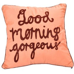 Good Morning Gorgeous Pillow (Mocha)