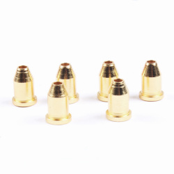 Guitar String Mounting Buckle Ferrules Bushing Set Golden