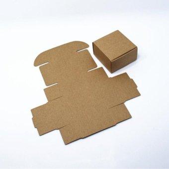 "GX 20Pcs/Lot Kraft Paper Box Wedding Birthday Christmas Party Giftideas Good Quality Jewelry Pearl Candy Handmade Soap For Cookiecandy Boxes 8.5X8.5X3.5Cm (3.3""X3.3""X1.4"") - intl"