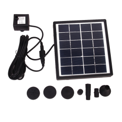 GY-D-0015 Solar Powered Fountain Pool Garden Watering Kits (Black)