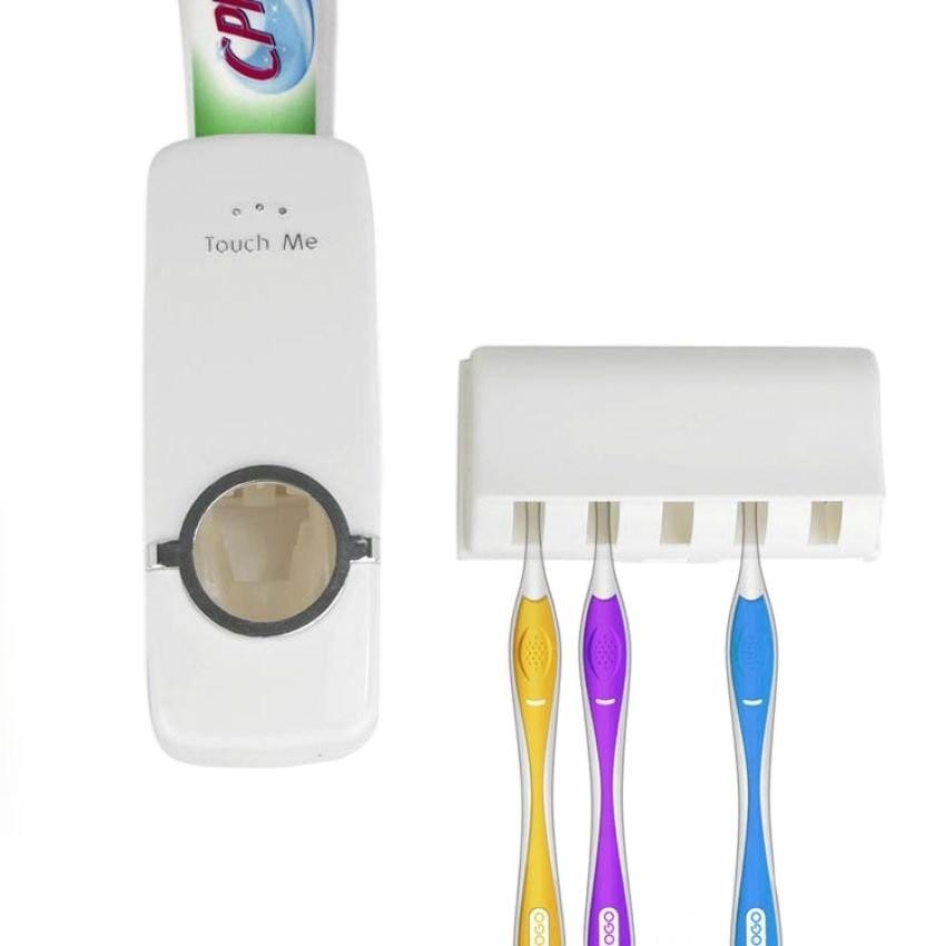 Keimav Hands-Free Toothpaste Dispenser (White) - thumbnail
