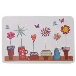 Hang-Qiao Cartoon Flowerpot Removable Wall Stickers