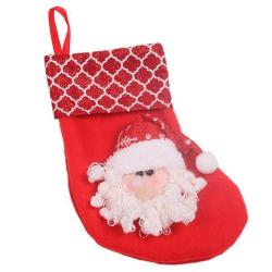 Hang-Qiao Christmas Stocking Sock Tree Decoration Santa Claus Red