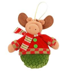 Hang-Qiao Hang Decorations Elk Christmas Doll Decor Holiday Gift (Multicolor)