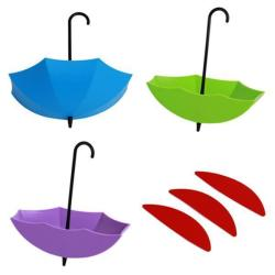 Hang-Qiao Seamless Removable Umbrella Wall Hooks #1 Multicolor
