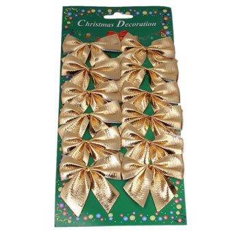 Hanyu Christmas Decoration Non-woven Bowknot Gold