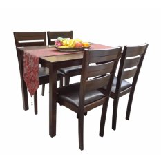 Hapihomes Hanna 4 Seater All Wood Dining Set