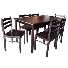 Hapihomes Starter 6 Seater Dining Set Wenge