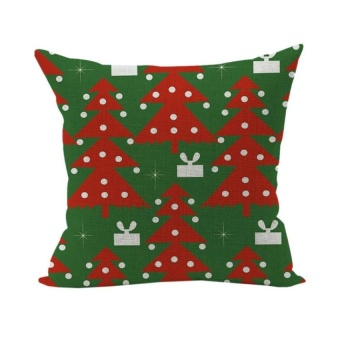 HappyLife Christmas Animal Home Pillowcase Living Room Cushion Throwdecorative Soft Pillow Cover Style 19 - intl