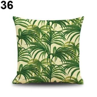 HappyLife Snowman Elk Tree Wreath Christmas Pillow Case Xmas Homedecor Linen Cushion Cover 10 - intl