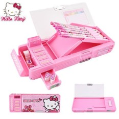 Hello The Kitty Writing Case Childs Primary School Livings Multi Function Pencil Little Girl