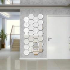 Hexagon 3D Art Diy Mirror Wall Stickers For Home Wall Decal   Intl