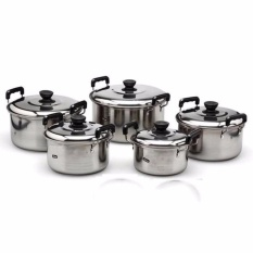 ABS_ABSL Stainless Steel Cookware Stockpot sets 5pcs (sliver)