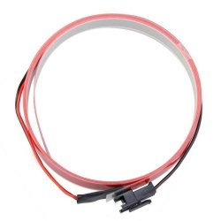 HKS 12V Bike Flexible EL Glow Neon Light Bar Strip Wire with Controller Red 1M - Intl