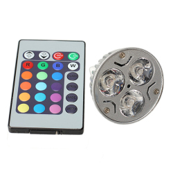 HKS 3W RGB LED Spotlight Lamp Bulb 85V-265V 16 Color Change + Remote Control (Intl)