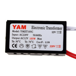 HKS AC220V to 12V 105W Electronic Transformer Driver for LED Light Lamp Bulb (Intl)