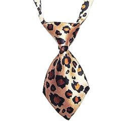 HKS Adjustable Pet Leopard Grooming Necktie (Brown) (Intl)