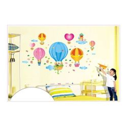 HKS AY Cartoon Hot Air Balloon Print PVC Wall Decal Stickers (Intl)
