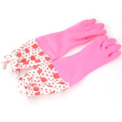 HKS Beam Port Fabric Flower Lace Gloves (Pink) (Intl)