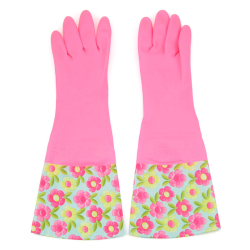 HKS Big Mouth Flower Sleeves Laundry Gloves (Pink) (Intl)
