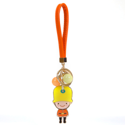 HKS Cartoon British Soldiers Keychain Orange Jelly Beads (Intl)