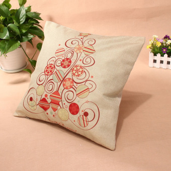 HKS Christmas Throw Home Decorative Cotton Linen Pillow 007 (Intl) - picture 2