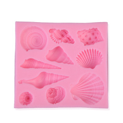 HKS New Marine Animal Shell Silicone Fondant Cake Molds Chocolate Cookie Mould (Intl)