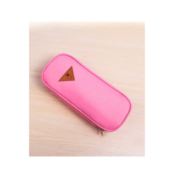 HKS Pencil Case Stationery Canvas Multifunction (Pink) (Intl)