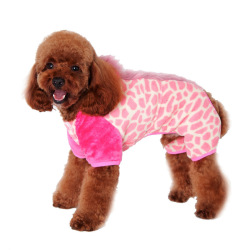 HKS Pet dog clothes fall and winter clothes dog legs in clothestrack(Pink) (Intl)