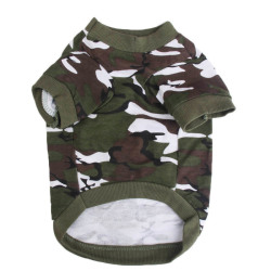 HKS Pet Dog Puppy Clothes T-shirt (Camouflage) (Intl)